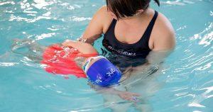 Baby in Swim Class