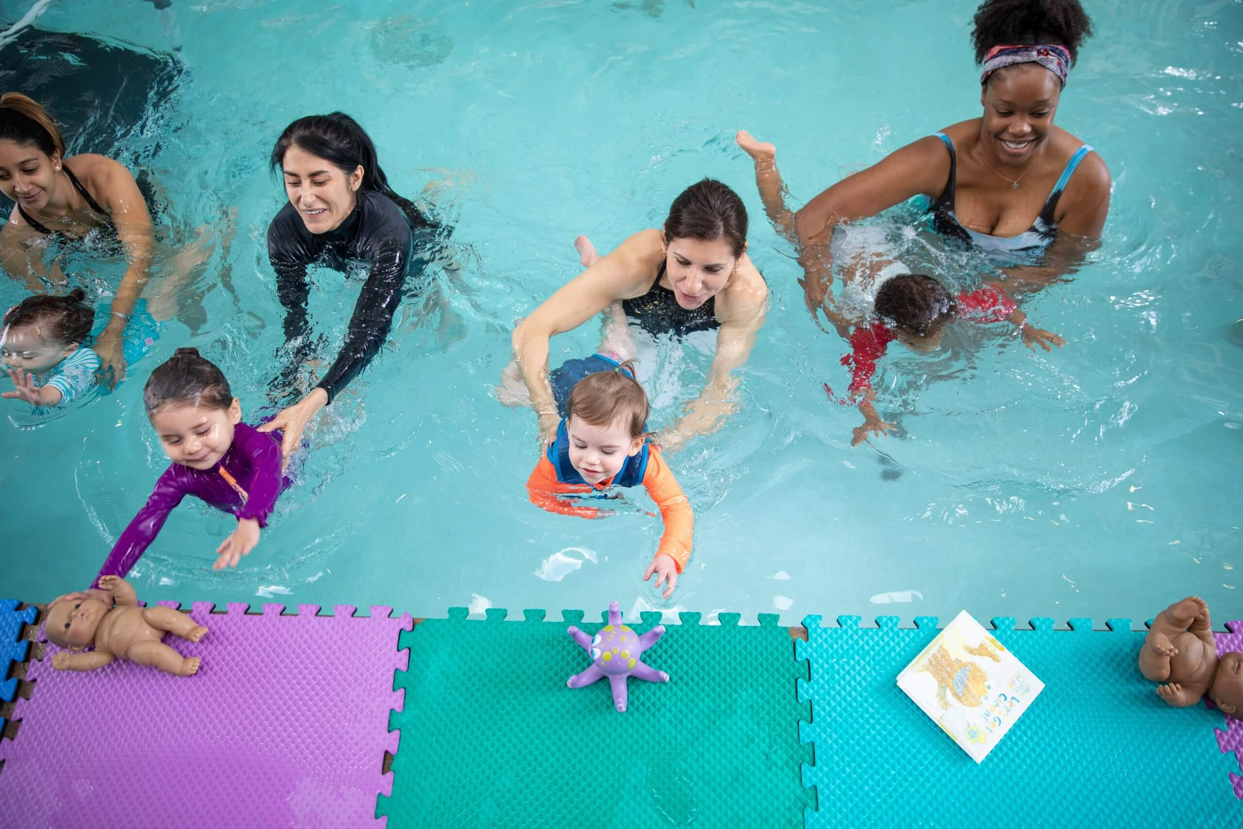 Group swimming class for kids