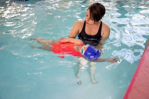 Infant swimming class